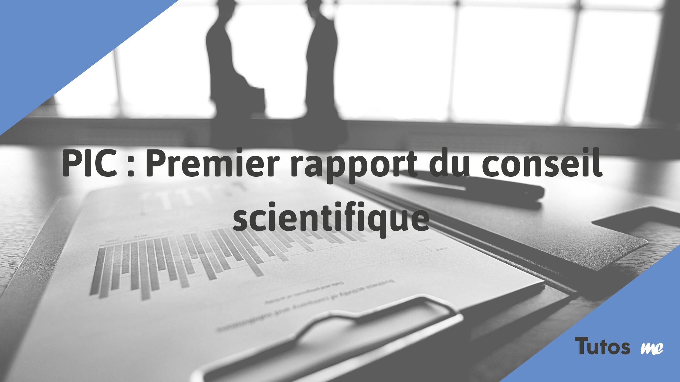 PIC premier rapport du comité scientifique